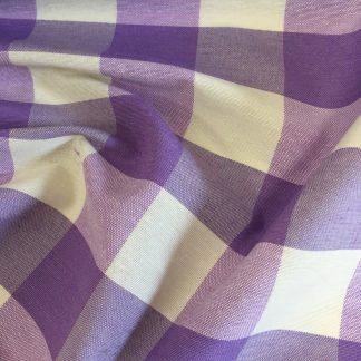 Large gingham print fabric