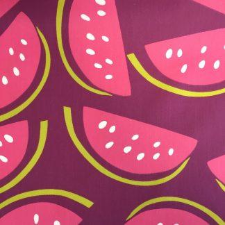 cotton sateen watermelon print fabric
