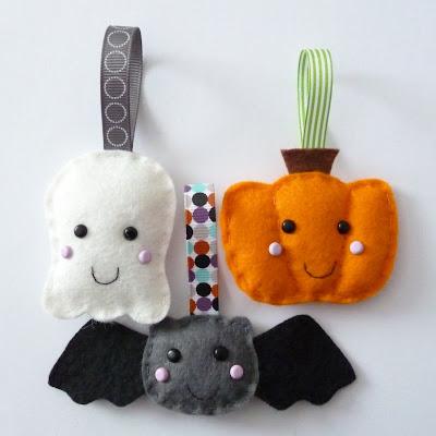 felt decorations, halloween crafts