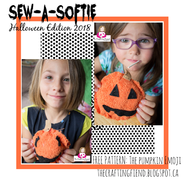 Sew a Softie, pumpkin emoji, halloween crafts